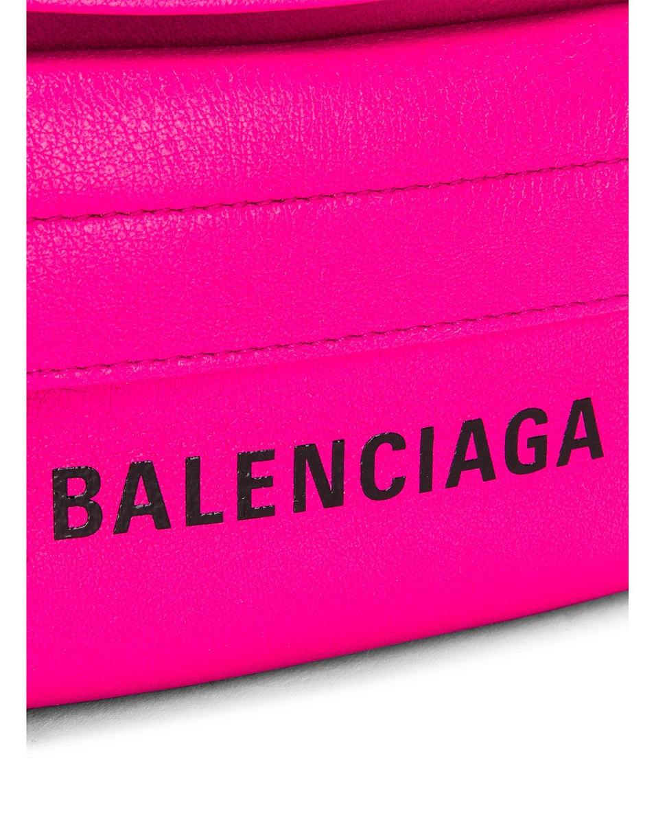 Image 7 of Balenciaga XS Everyday Belt Bag in Acid Fuchsia & Black