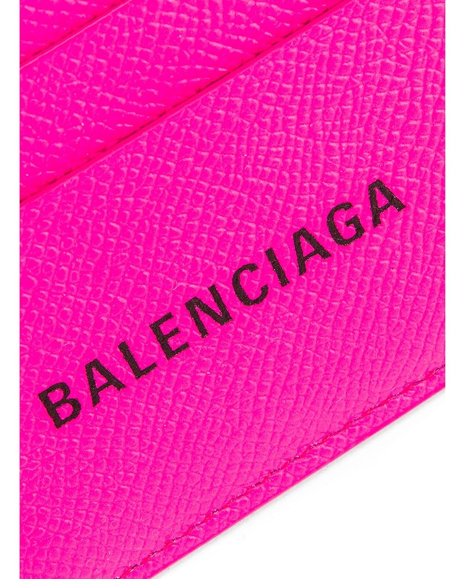 Image 3 of Balenciaga BB Card Holder in Acid Fuchsia & Black