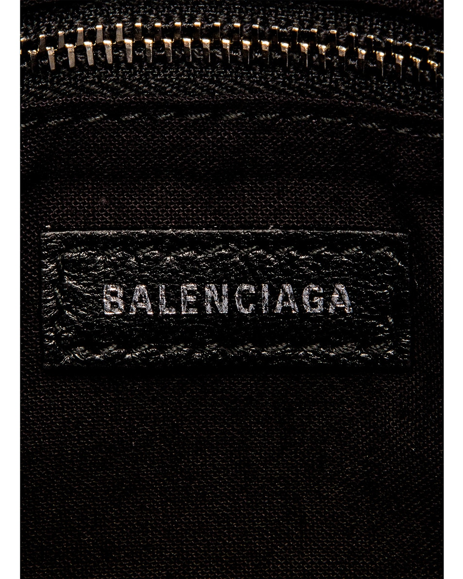 Image 7 of Balenciaga Mini Printed Python City Bag in Silver