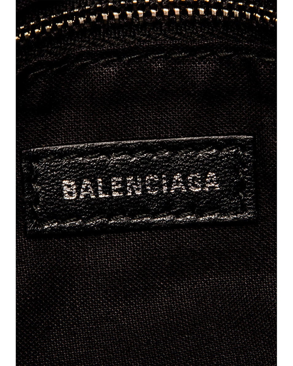 Image 7 of Balenciaga Mini Embossed Python City Bag in Silver
