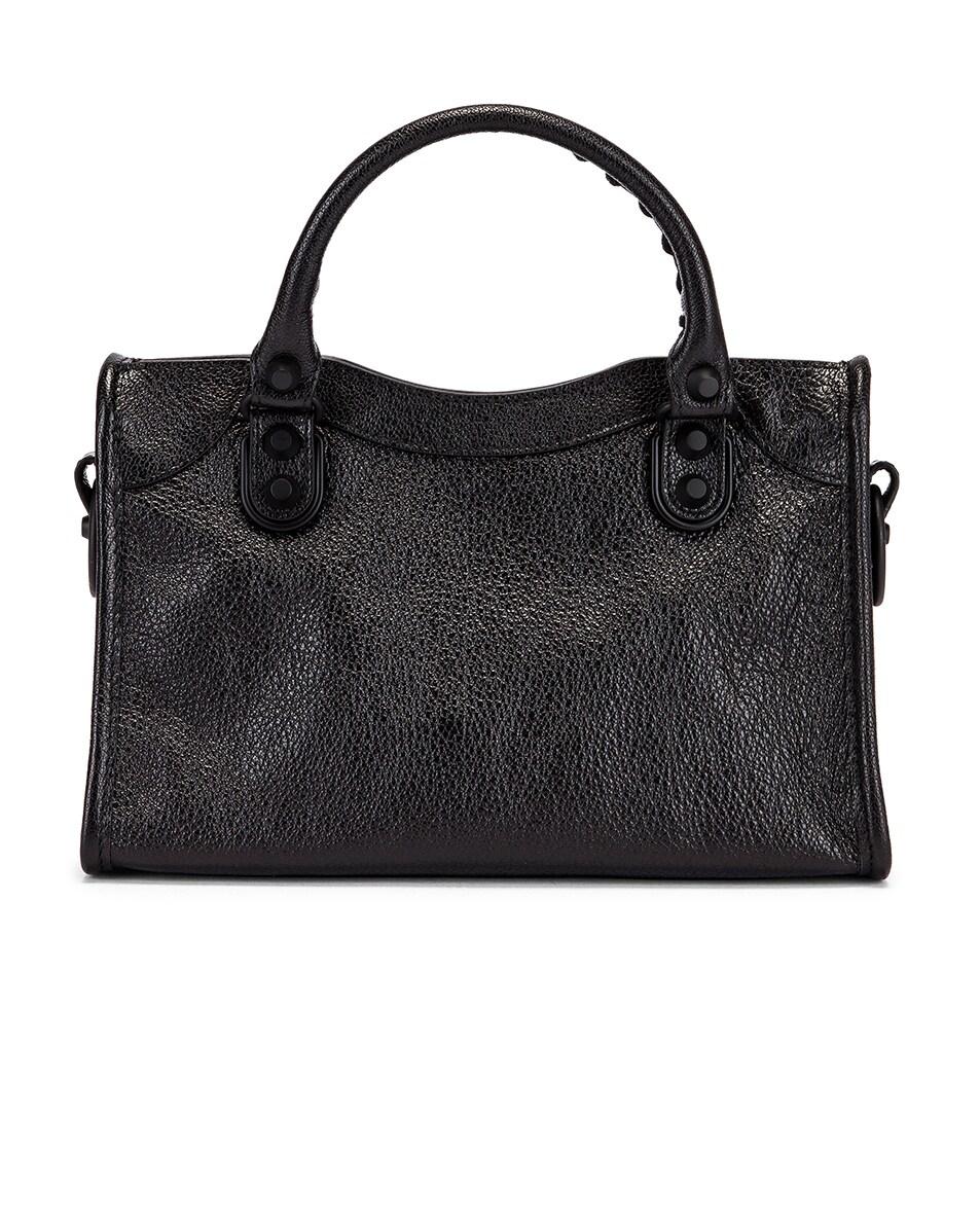 Image 3 of Balenciaga Mini Leather City Bag in Black