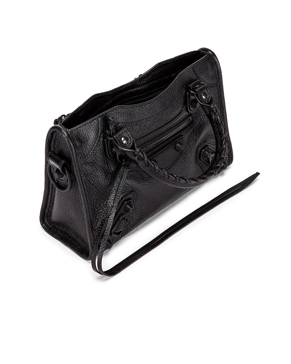 Image 5 of Balenciaga Mini Leather City Bag in Black
