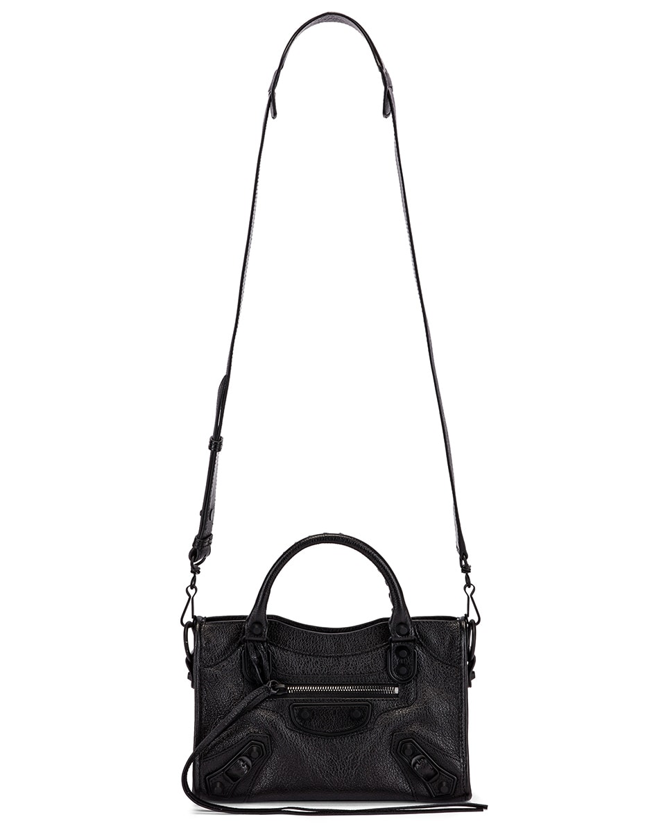 Image 6 of Balenciaga Mini Leather City Bag in Black