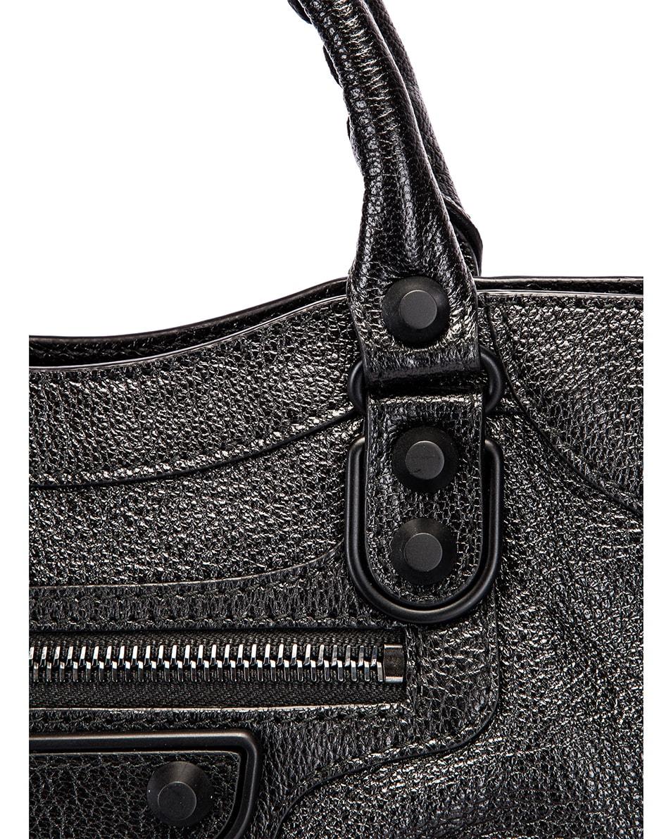 Image 8 of Balenciaga Mini Leather City Bag in Black