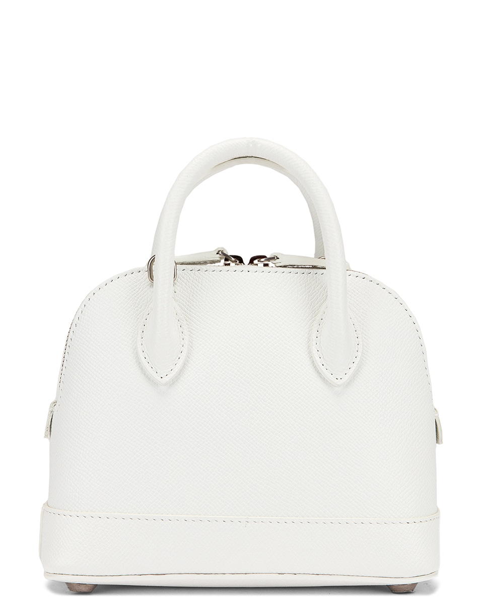 Image 3 of Balenciaga XXS Ville Top Handle Bag in White & Black