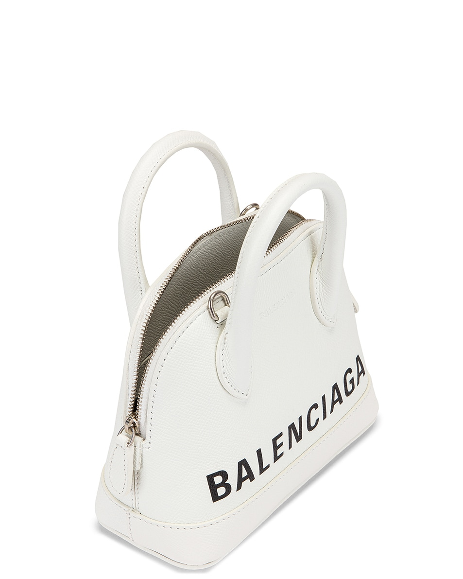Image 5 of Balenciaga XXS Ville Top Handle Bag in White & Black