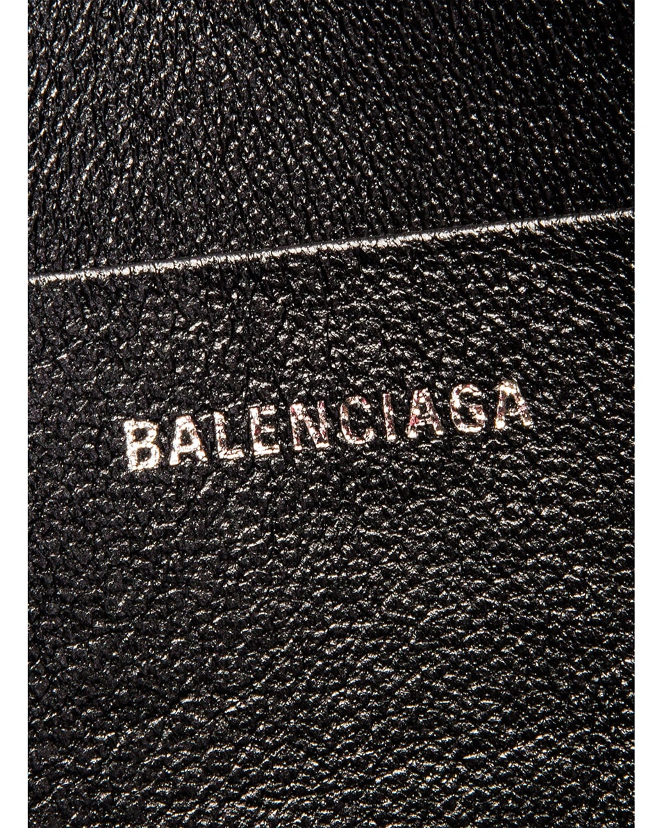 Image 6 of Balenciaga Cash Logo Pouch in Black & White