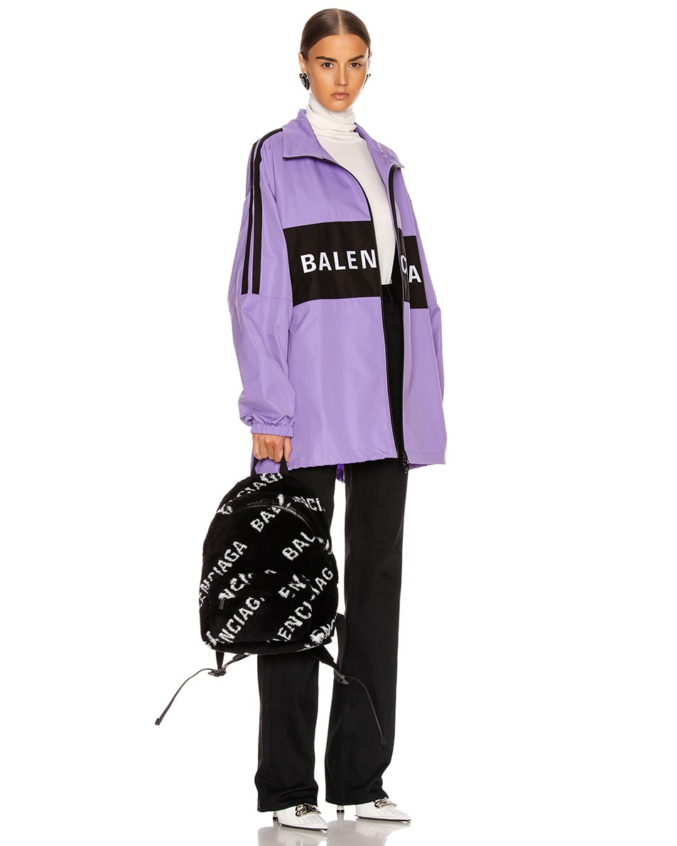 Image 2 of Balenciaga Small Everyday Backpack in Black & White