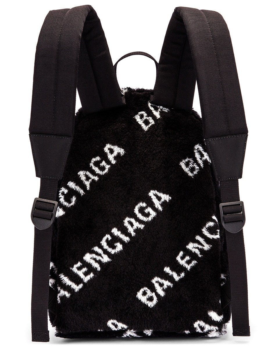 Image 3 of Balenciaga Small Everyday Backpack in Black & White