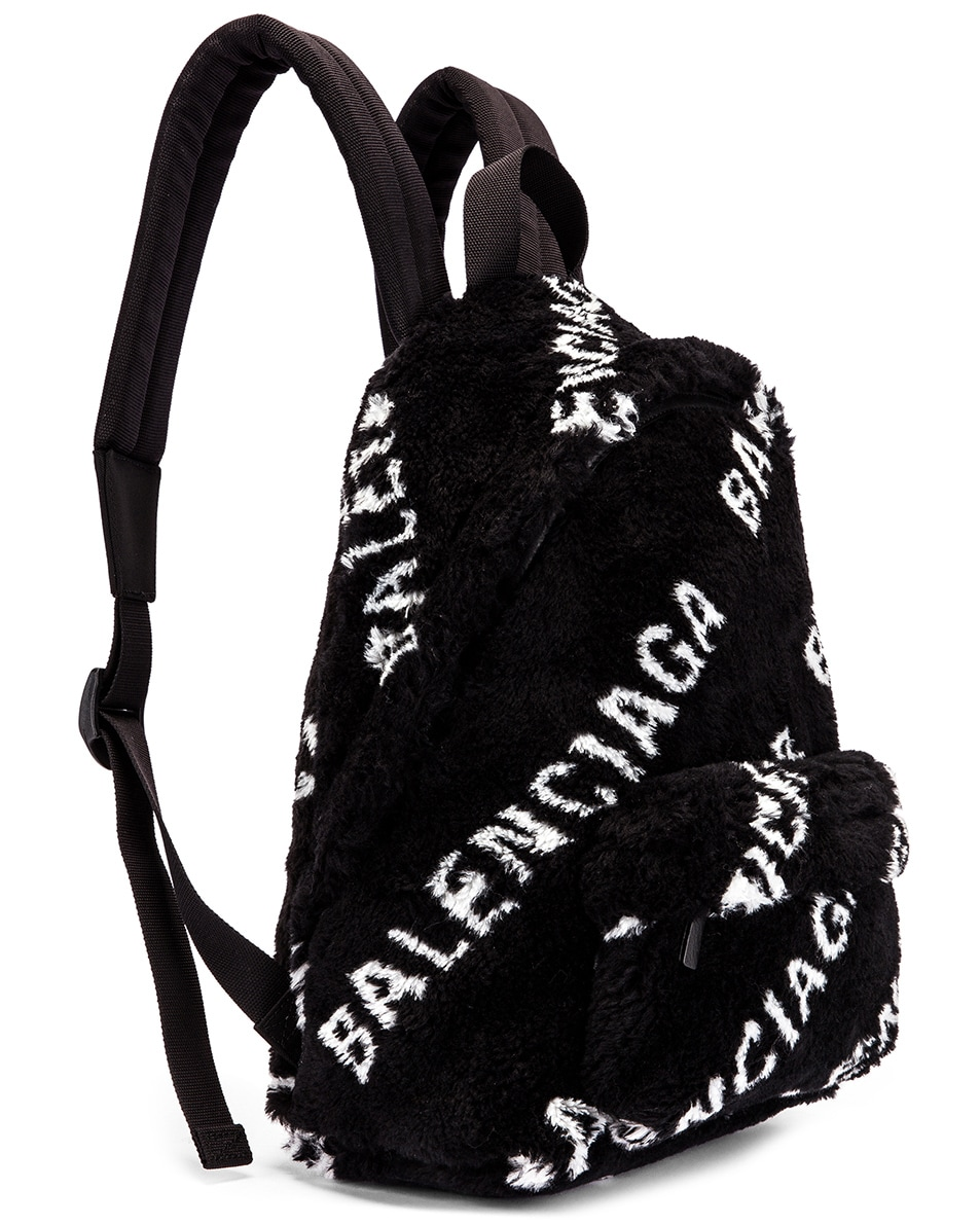 Image 4 of Balenciaga Small Everyday Backpack in Black & White