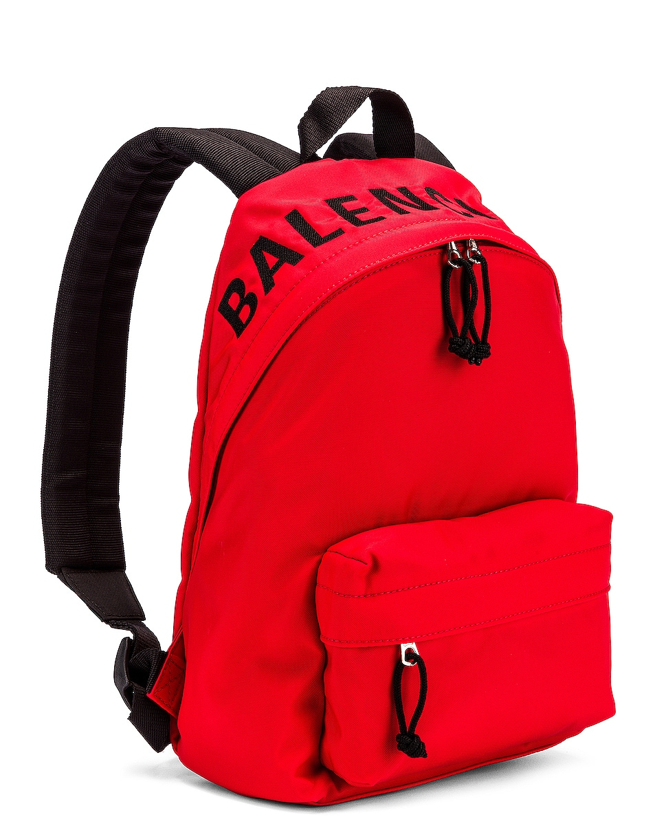 Image 4 of Balenciaga Small Wheel Backpack in Bright Red & Black