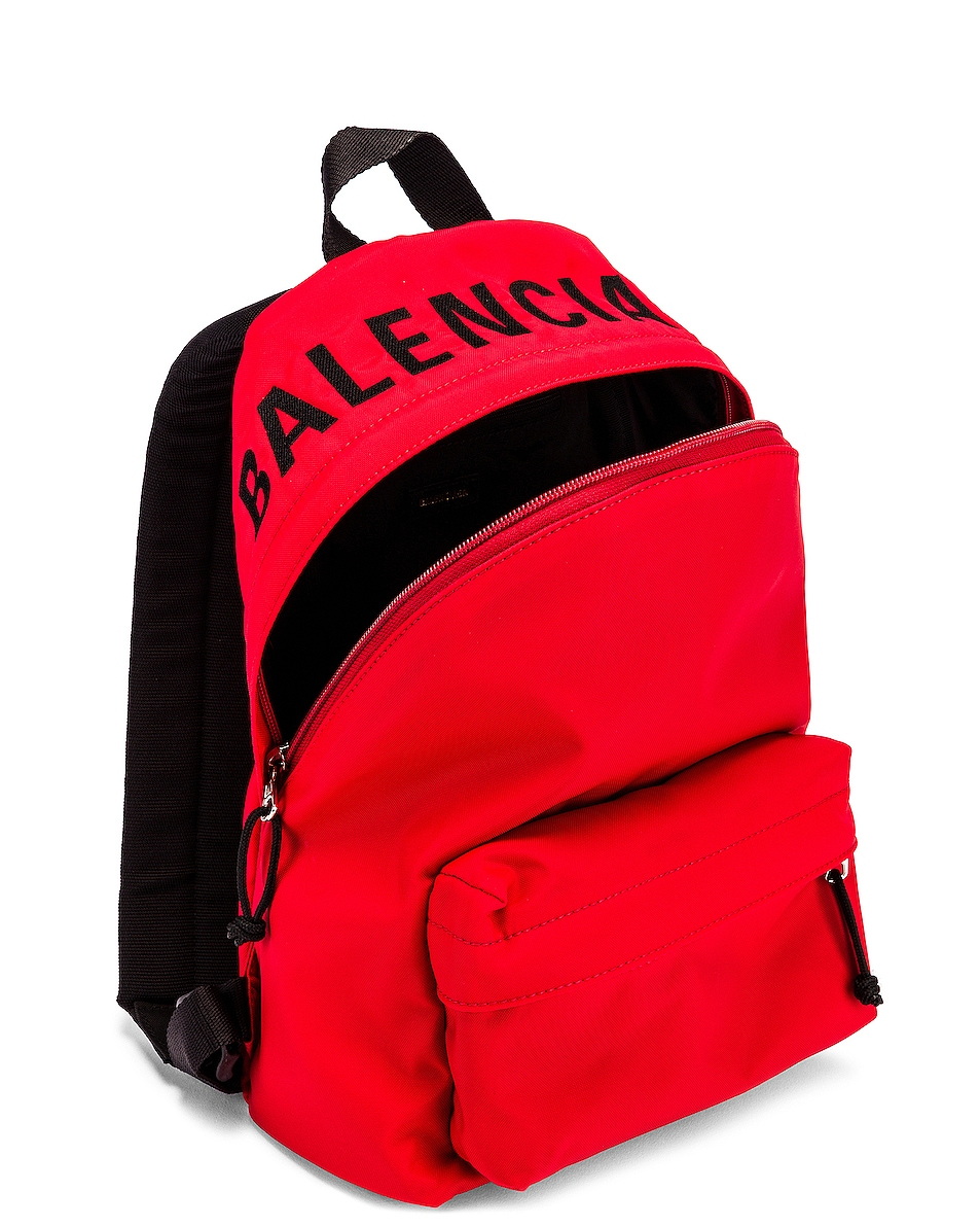 Image 5 of Balenciaga Small Wheel Backpack in Bright Red & Black