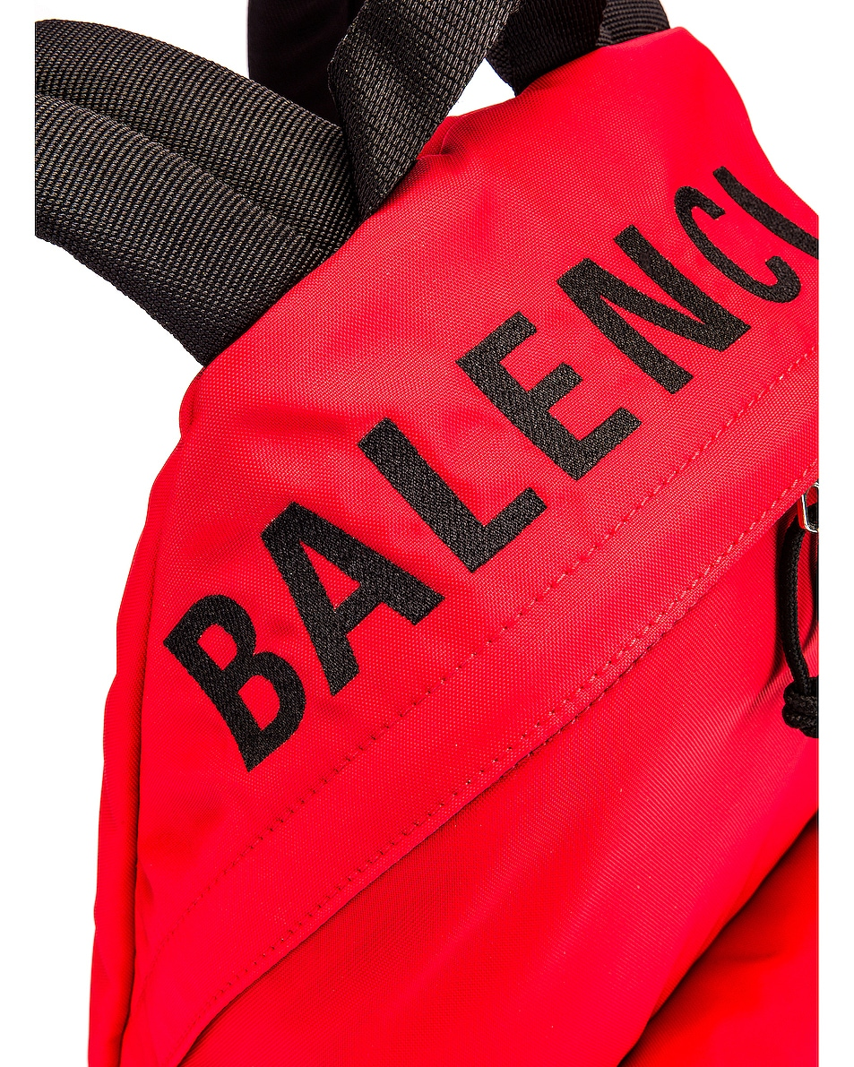 Image 7 of Balenciaga Small Wheel Backpack in Bright Red & Black