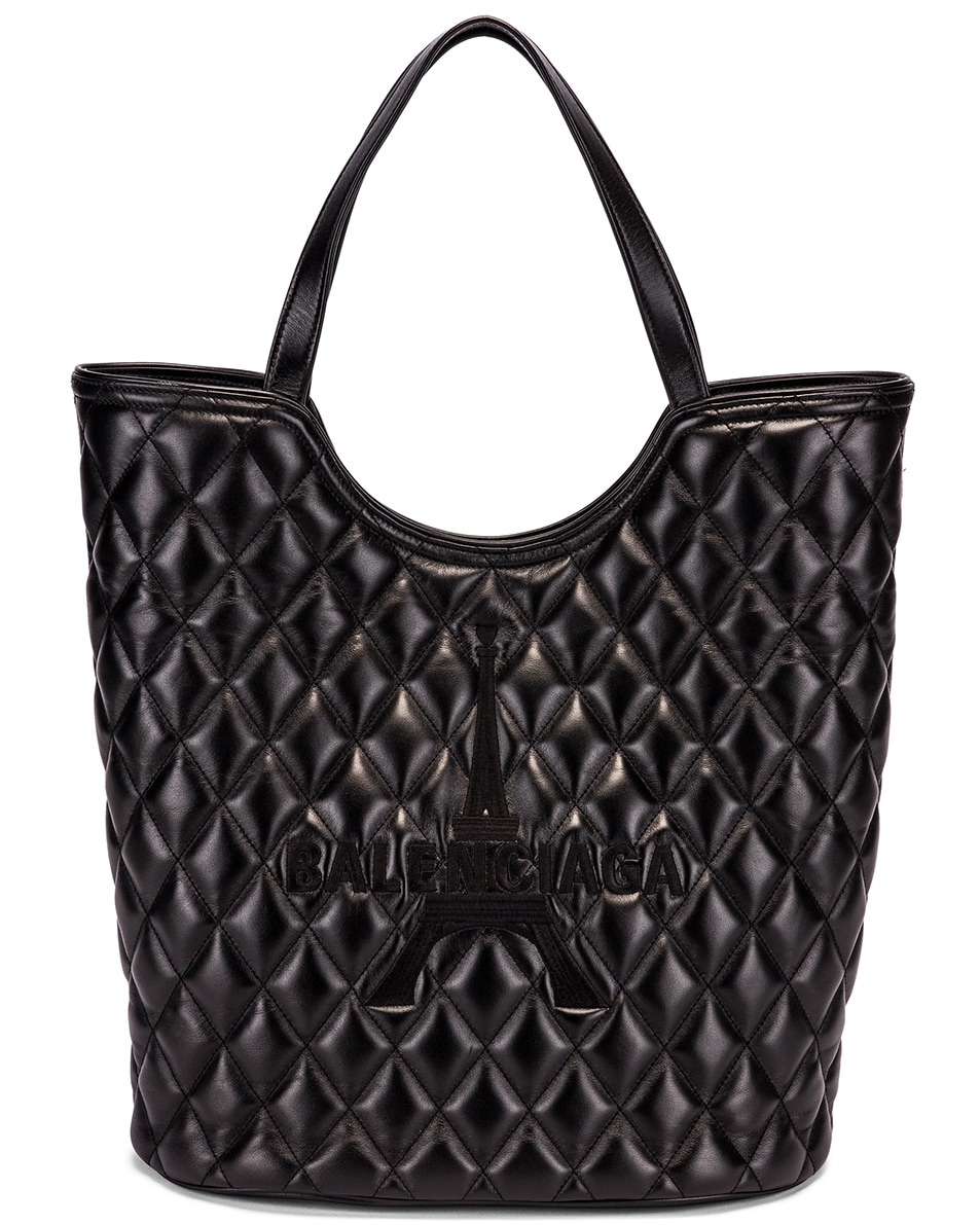 Image 1 of Balenciaga Large Wave Tote in Black