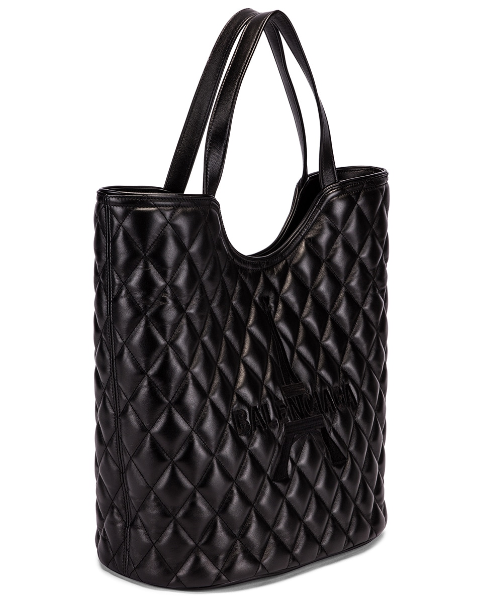 Image 4 of Balenciaga Large Wave Tote in Black