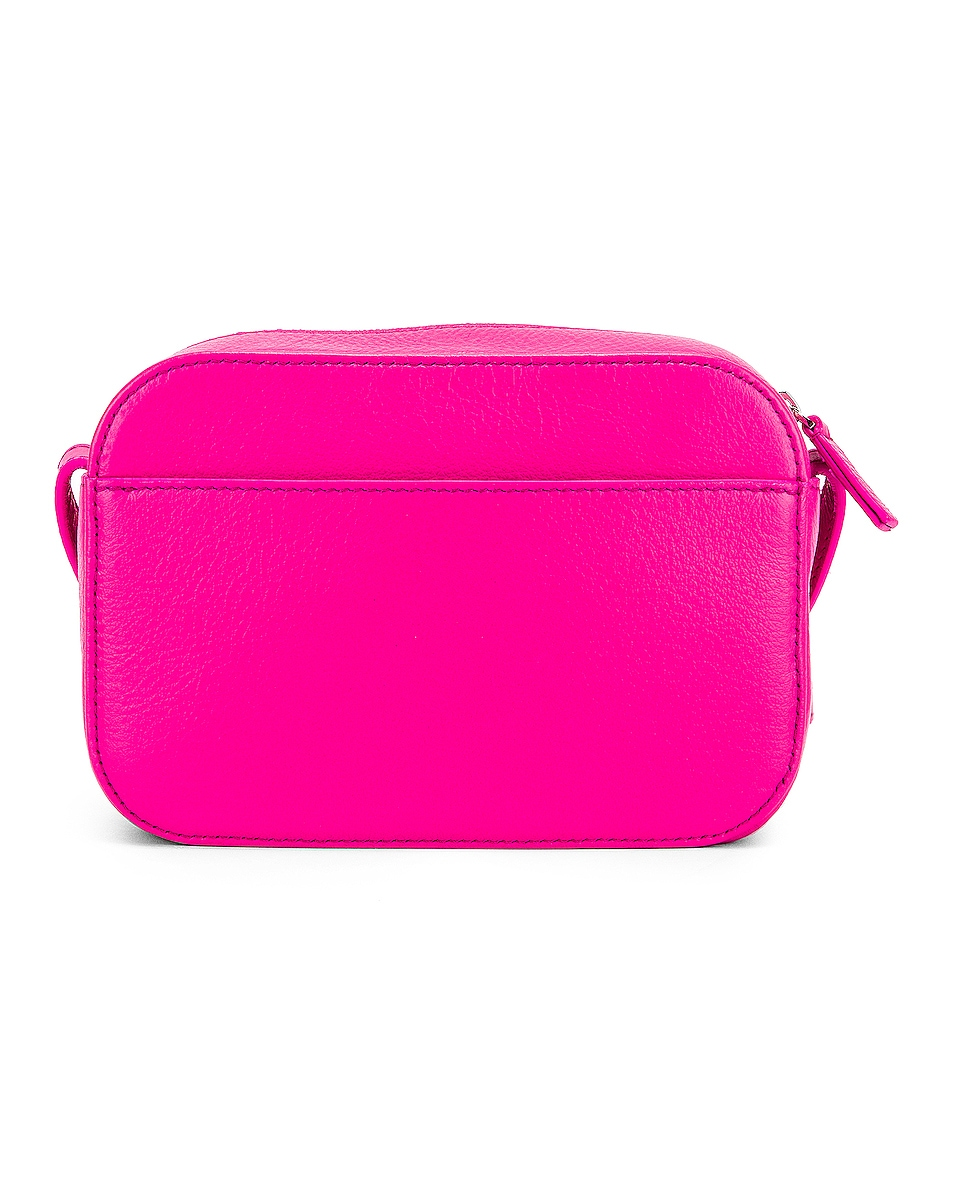 Image 3 of Balenciaga XS Logo Camera Bag in Acid Fuchsia & Black