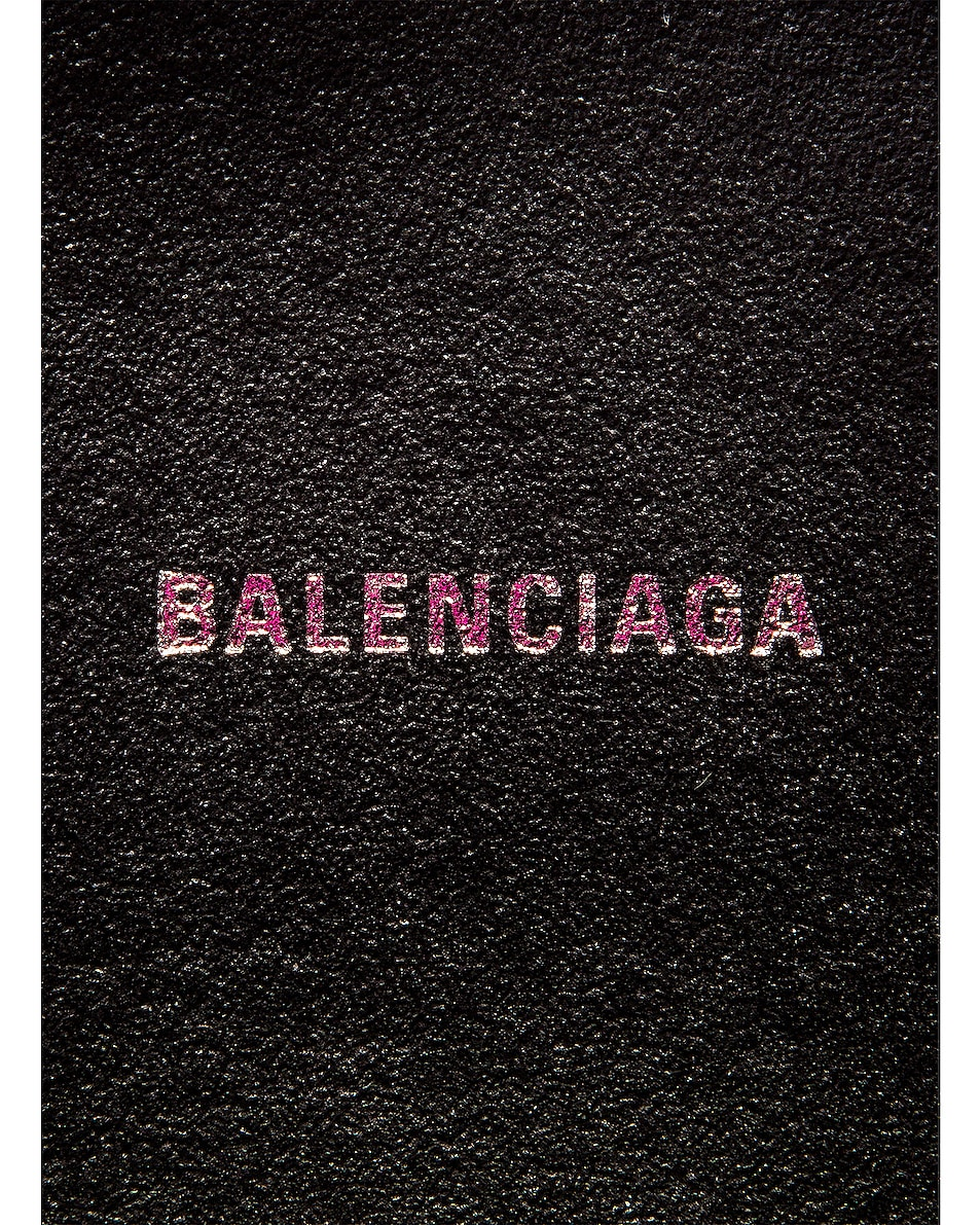 Image 7 of Balenciaga XS Logo Camera Bag in Acid Fuchsia & Black