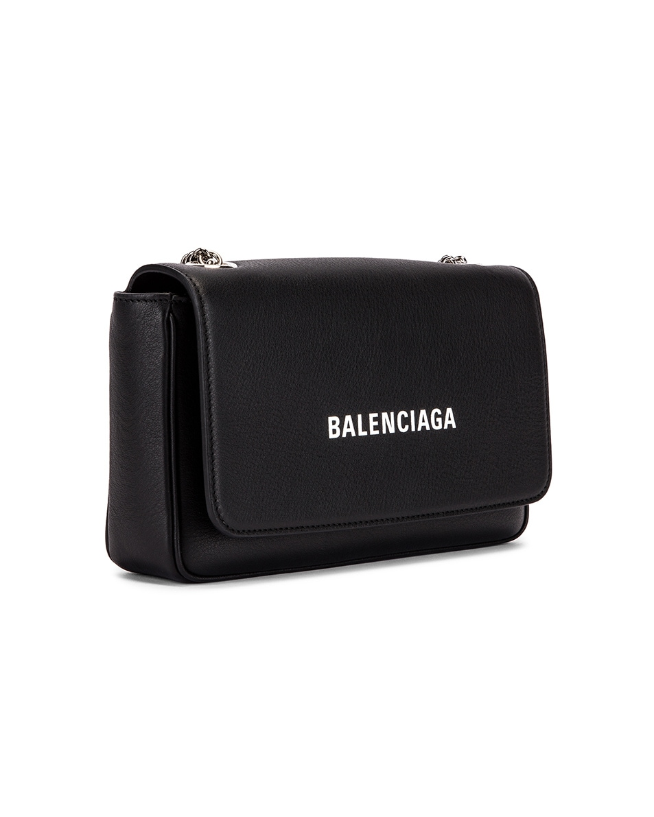 Image 4 of Balenciaga Everyday Wallet on Chain Bag in Black & White