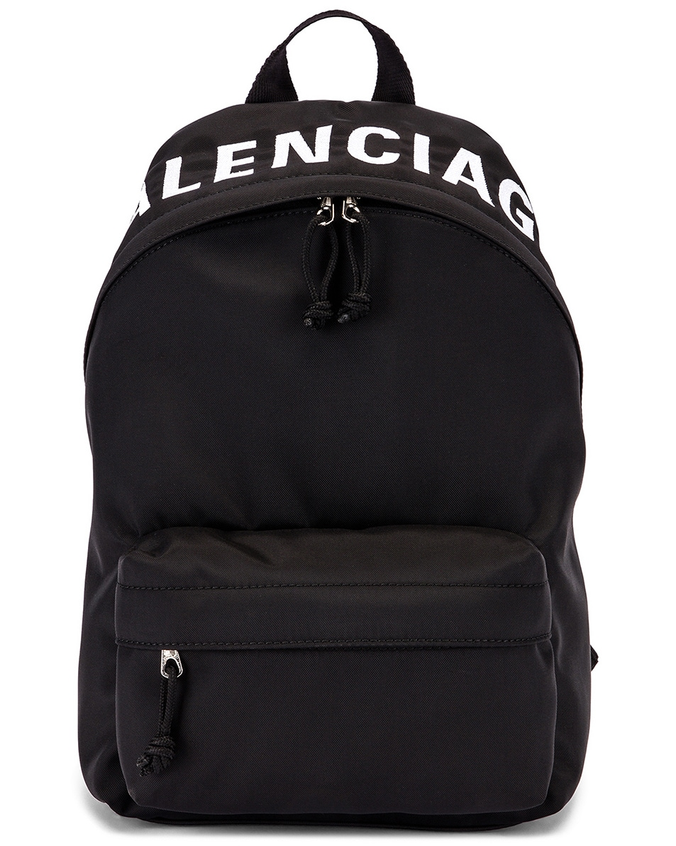 Image 1 of Balenciaga Small Wheel Backpack in Black & Black