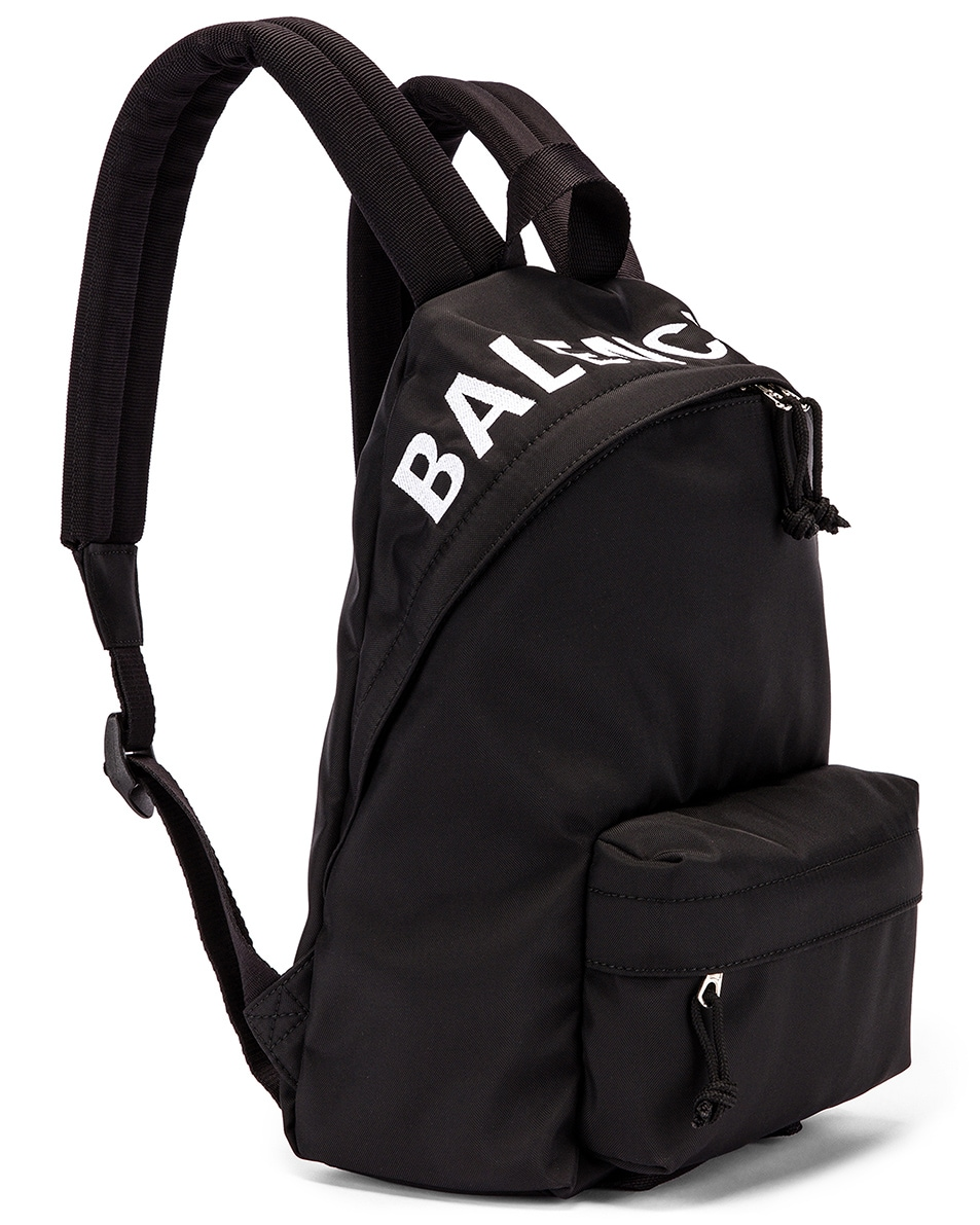 Image 4 of Balenciaga Small Wheel Backpack in Black & Black