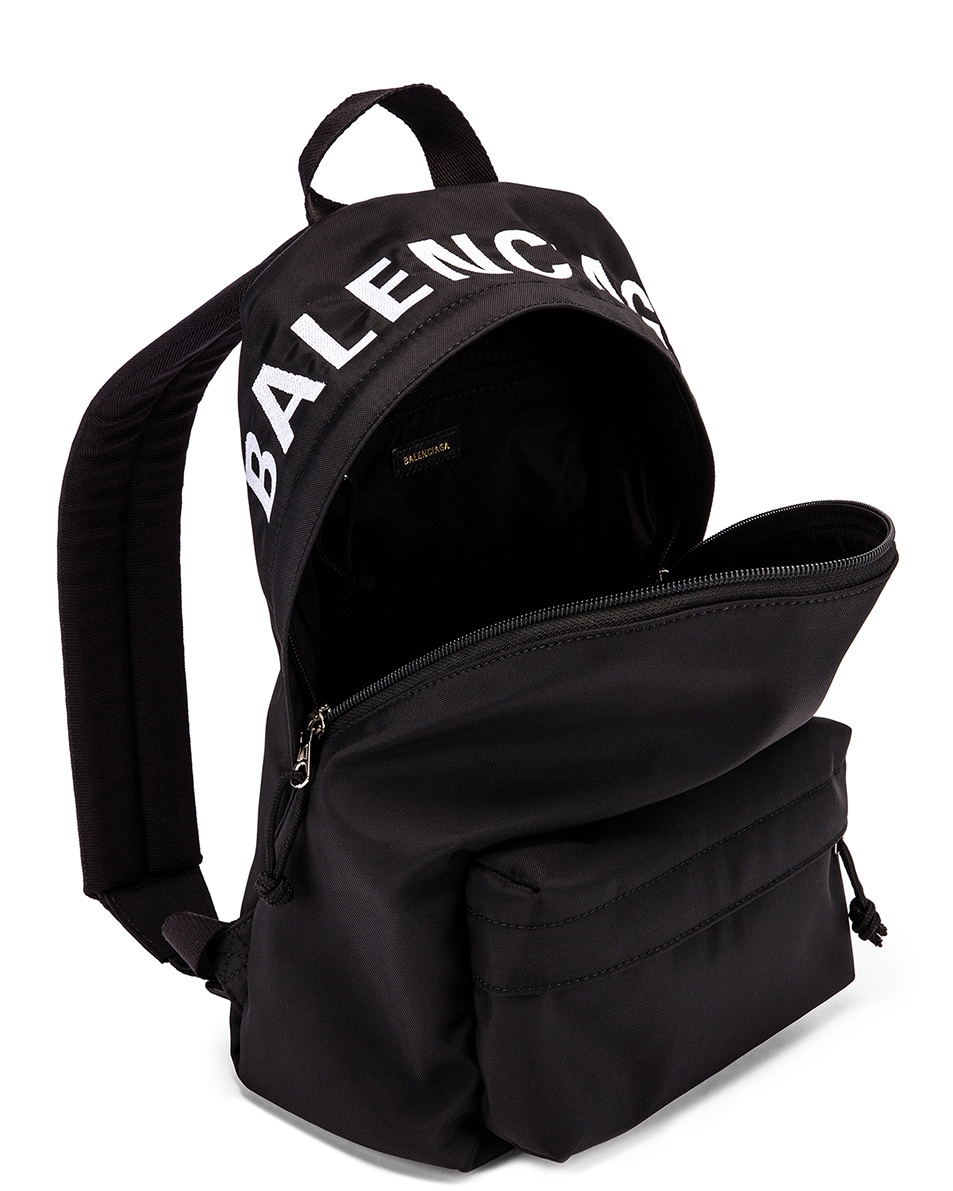 Image 5 of Balenciaga Small Wheel Backpack in Black & Black