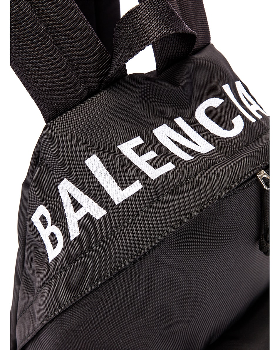 Image 7 of Balenciaga Small Wheel Backpack in Black & Black