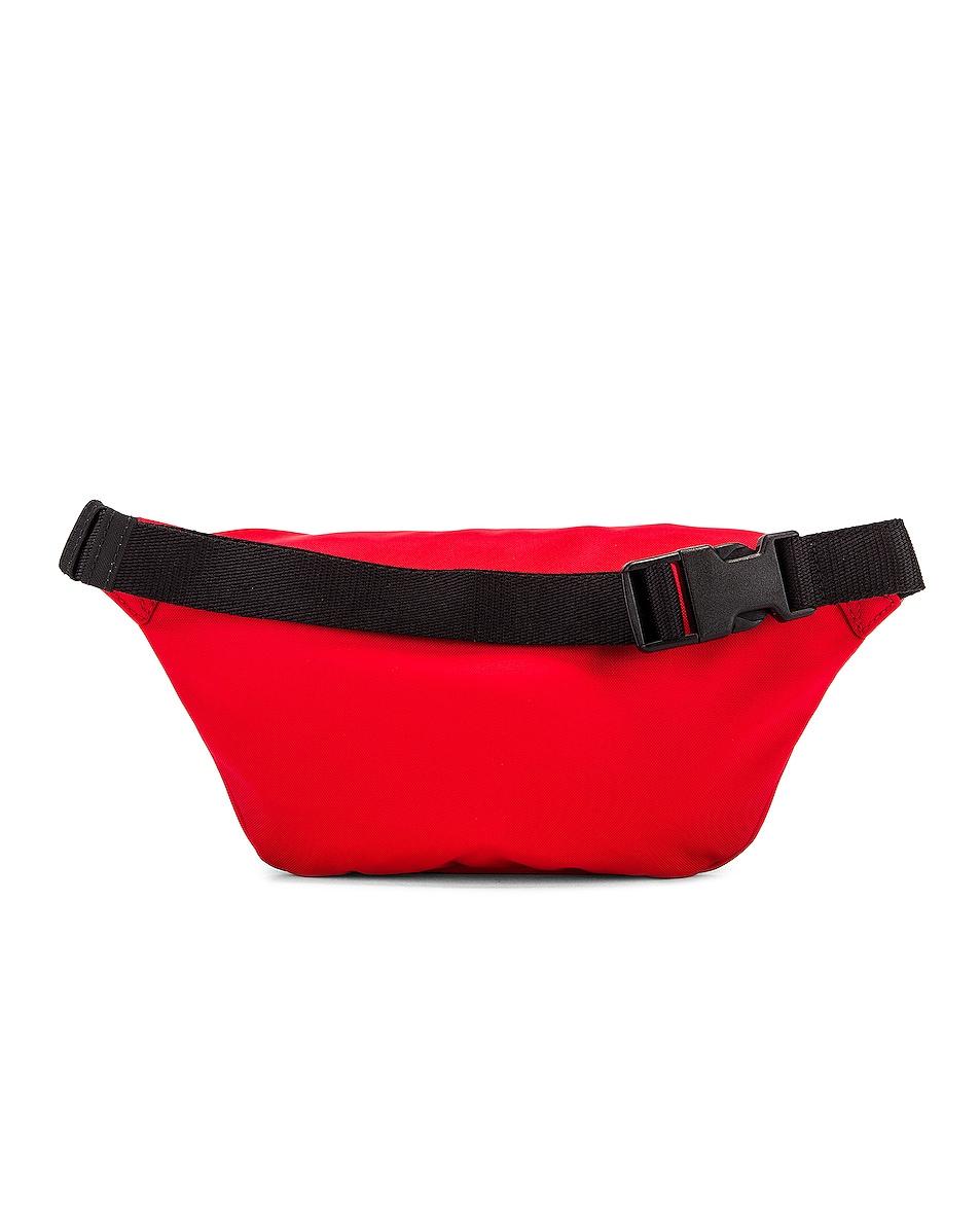 Image 3 of Balenciaga S Wheel Logo Belt Bag in Bright Red & Black