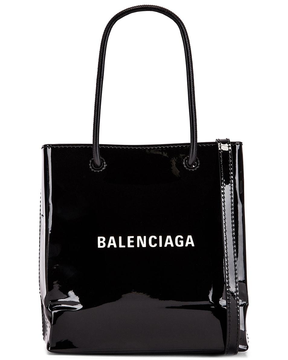 Image 1 of Balenciaga XXS Shopping Tote Bag in Black