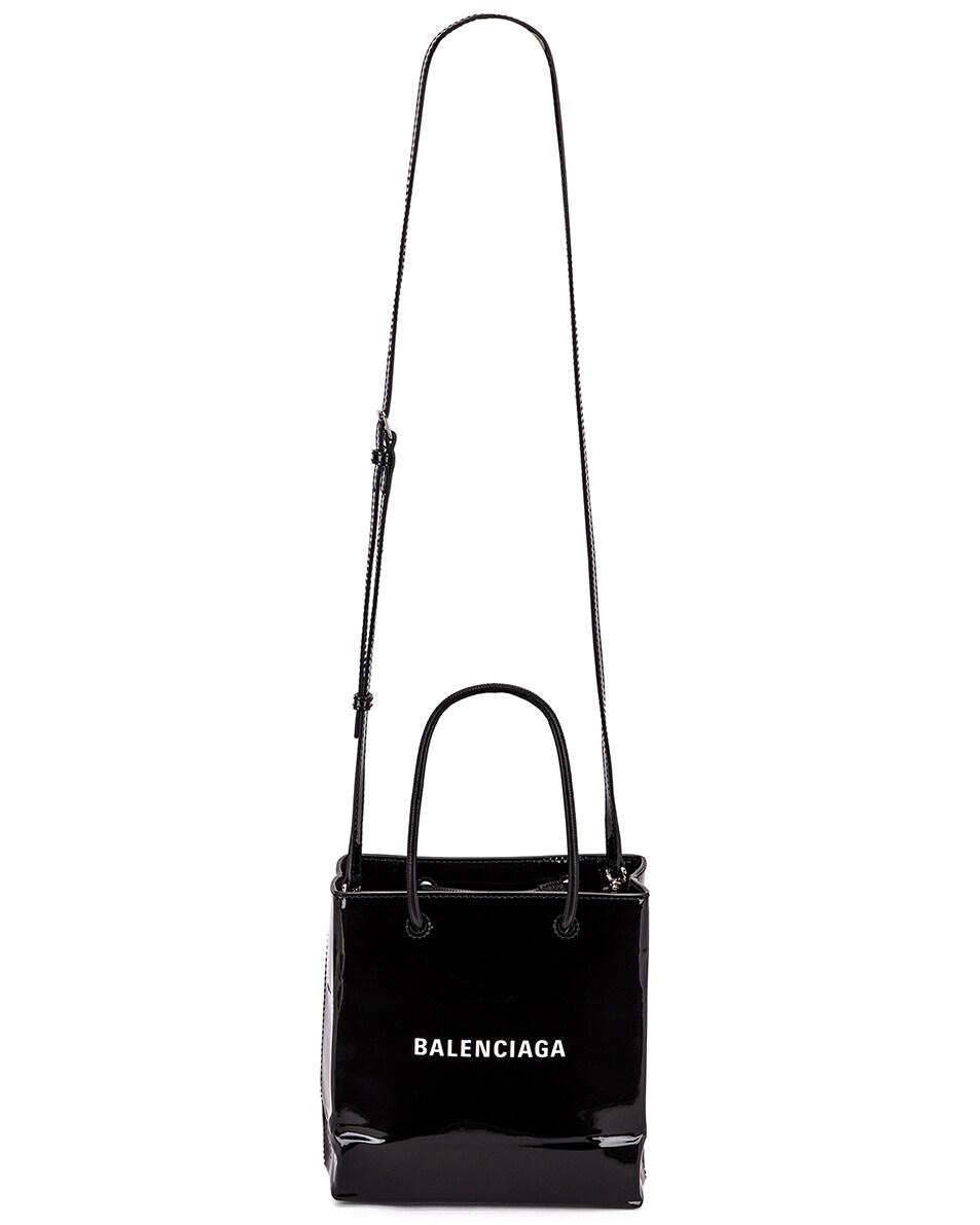 Image 6 of Balenciaga XXS Shopping Tote Bag in Black