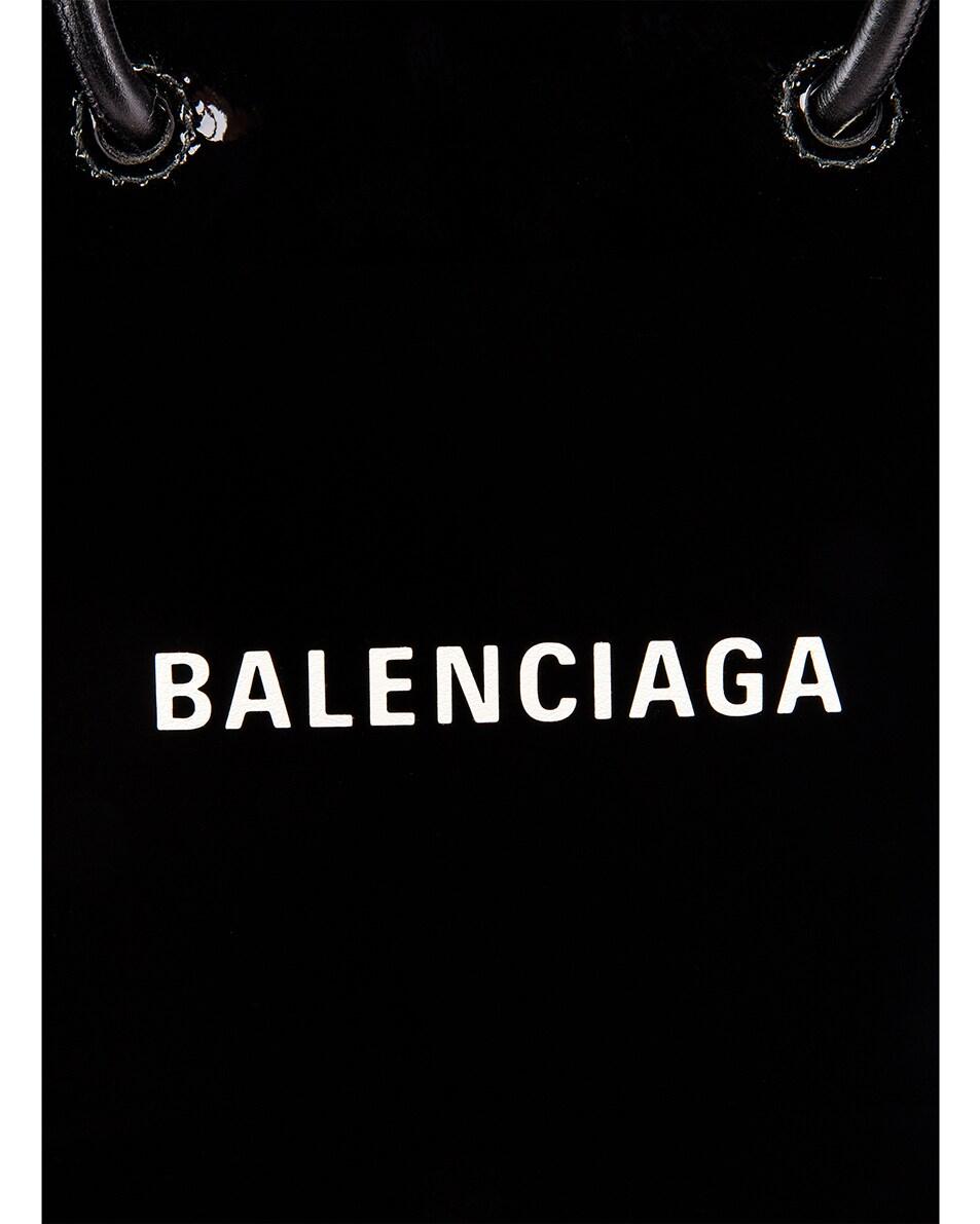 Image 8 of Balenciaga XXS Shopping Tote Bag in Black