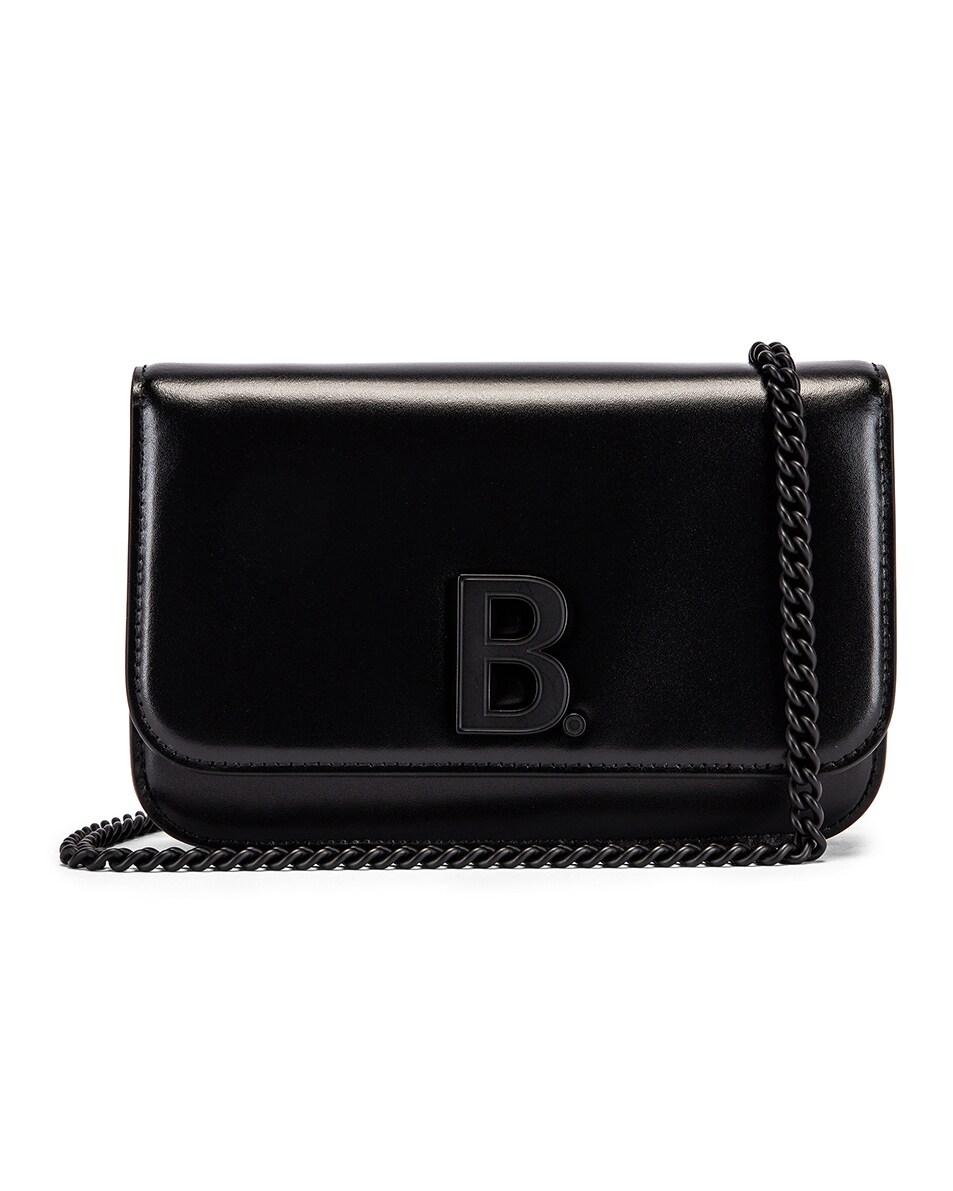 Image 1 of Balenciaga B Wallet on Chain Bag in Black