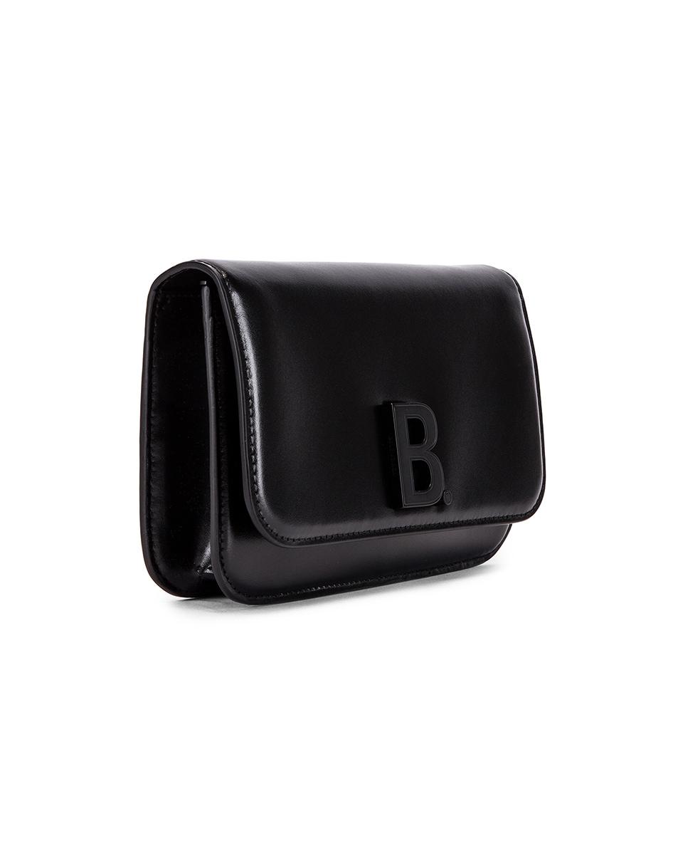 Image 4 of Balenciaga B Wallet on Chain Bag in Black