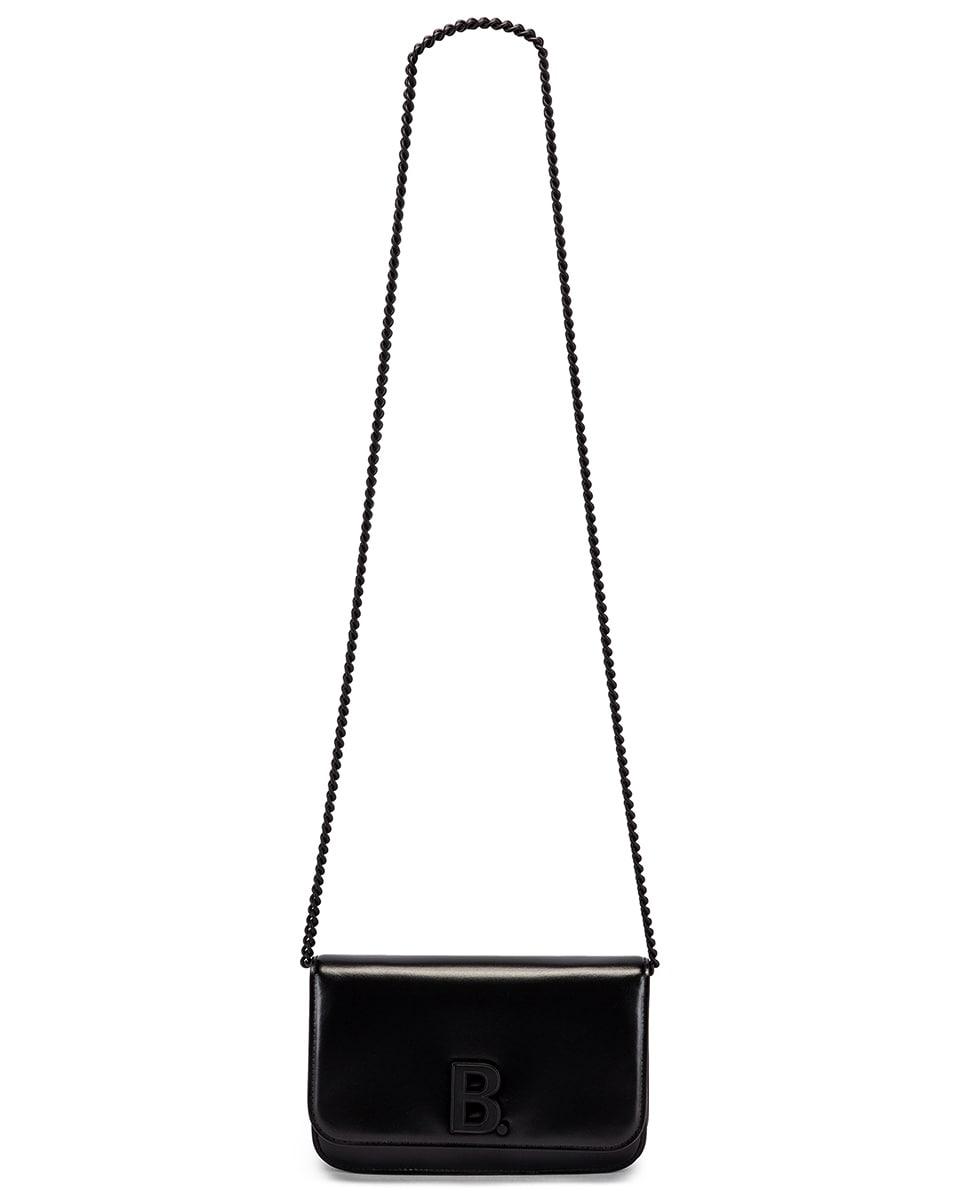 Image 6 of Balenciaga B Wallet on Chain Bag in Black