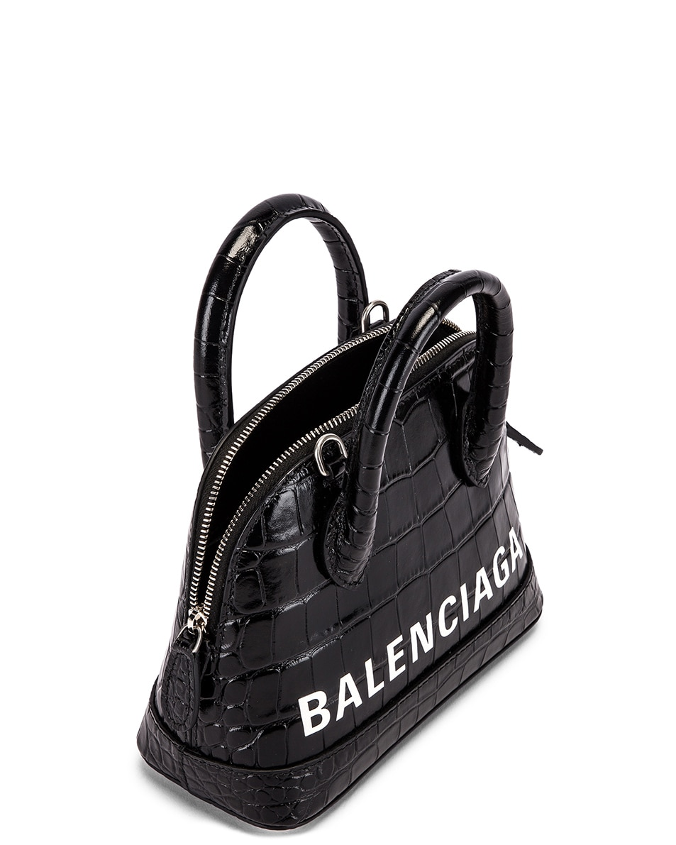 Image 5 of Balenciaga XXS Ville Top Handle Bag in Black & White