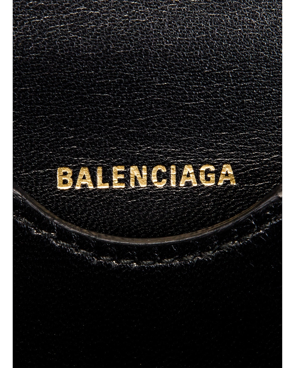 Image 7 of Balenciaga Small Embossed Croc B Bag in Black