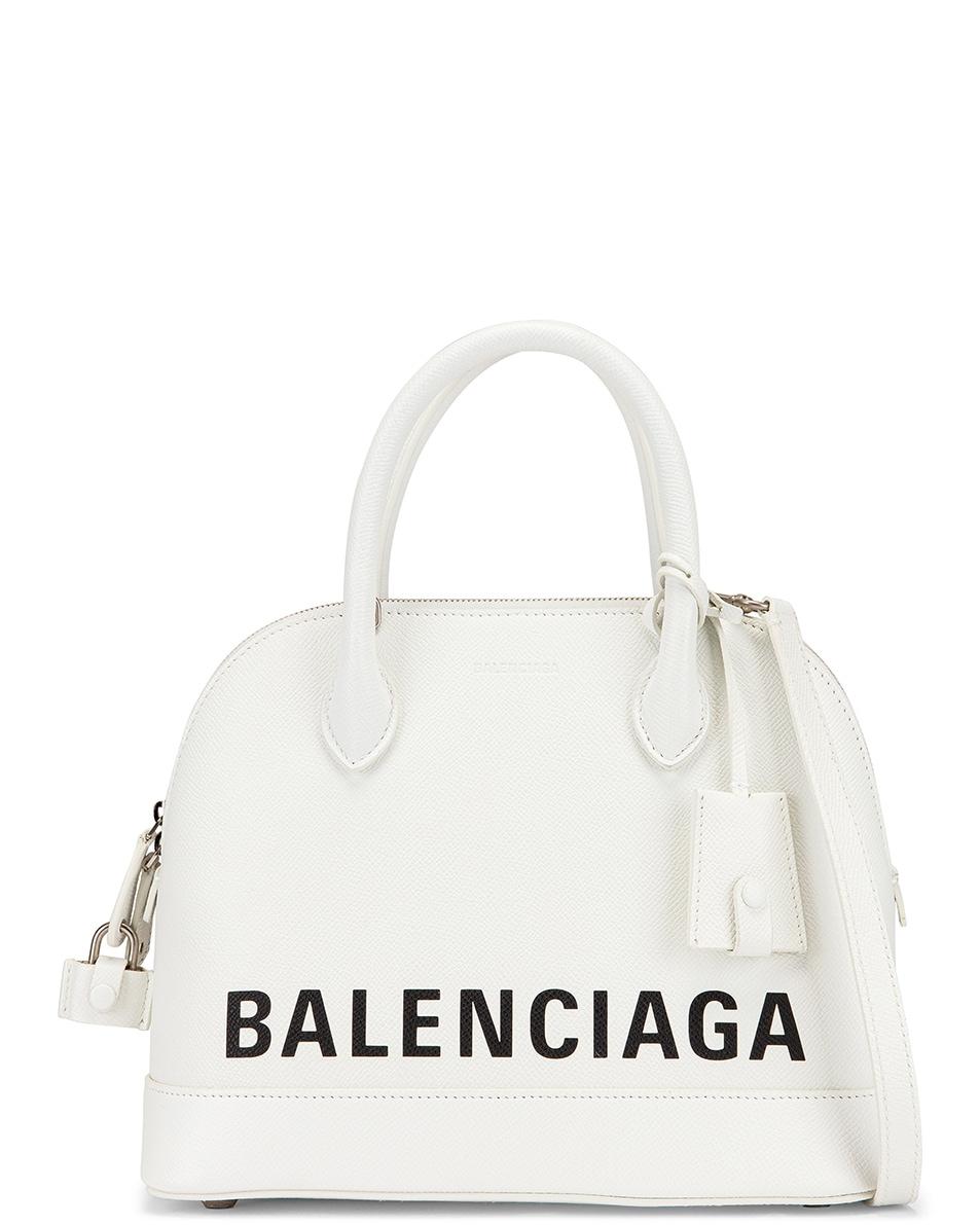 Image 1 of Balenciaga Small Ville Top Handle Bag in White & Black