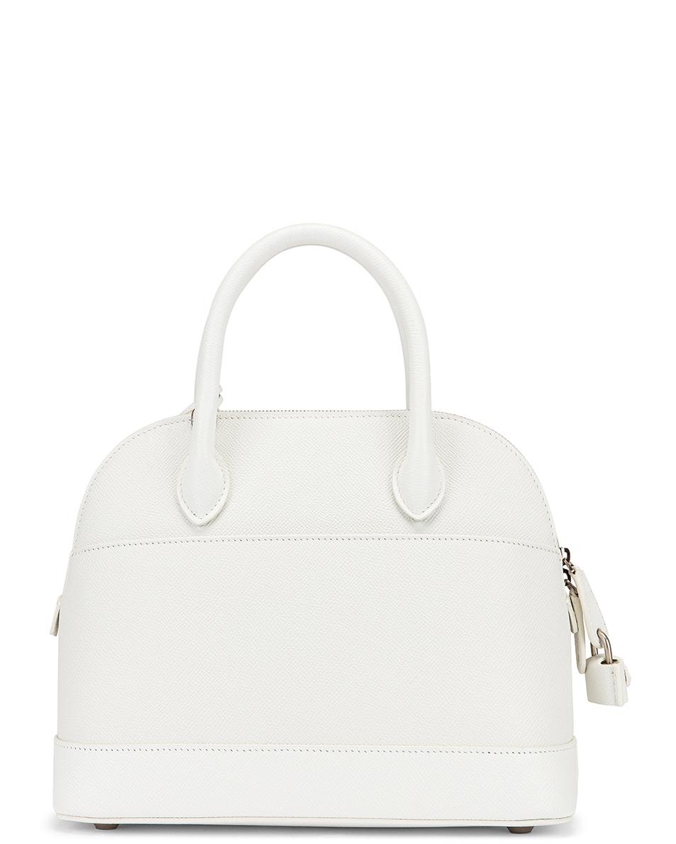 Image 3 of Balenciaga Small Ville Top Handle Bag in White & Black