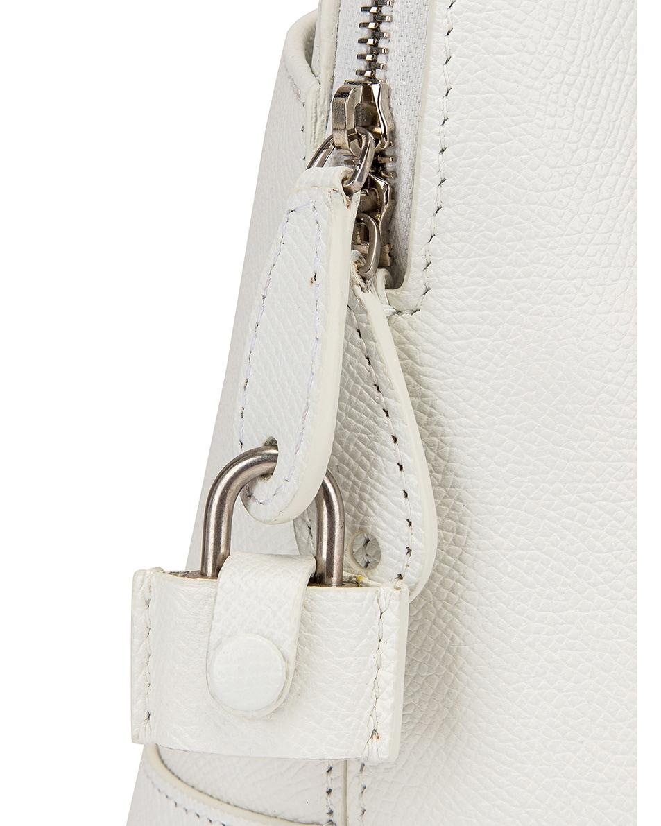 Image 8 of Balenciaga Small Ville Top Handle Bag in White & Black