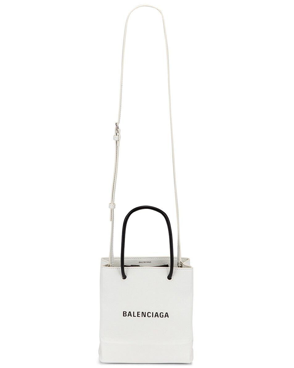 Image 6 of Balenciaga XXS Shopping Tote Bag in White