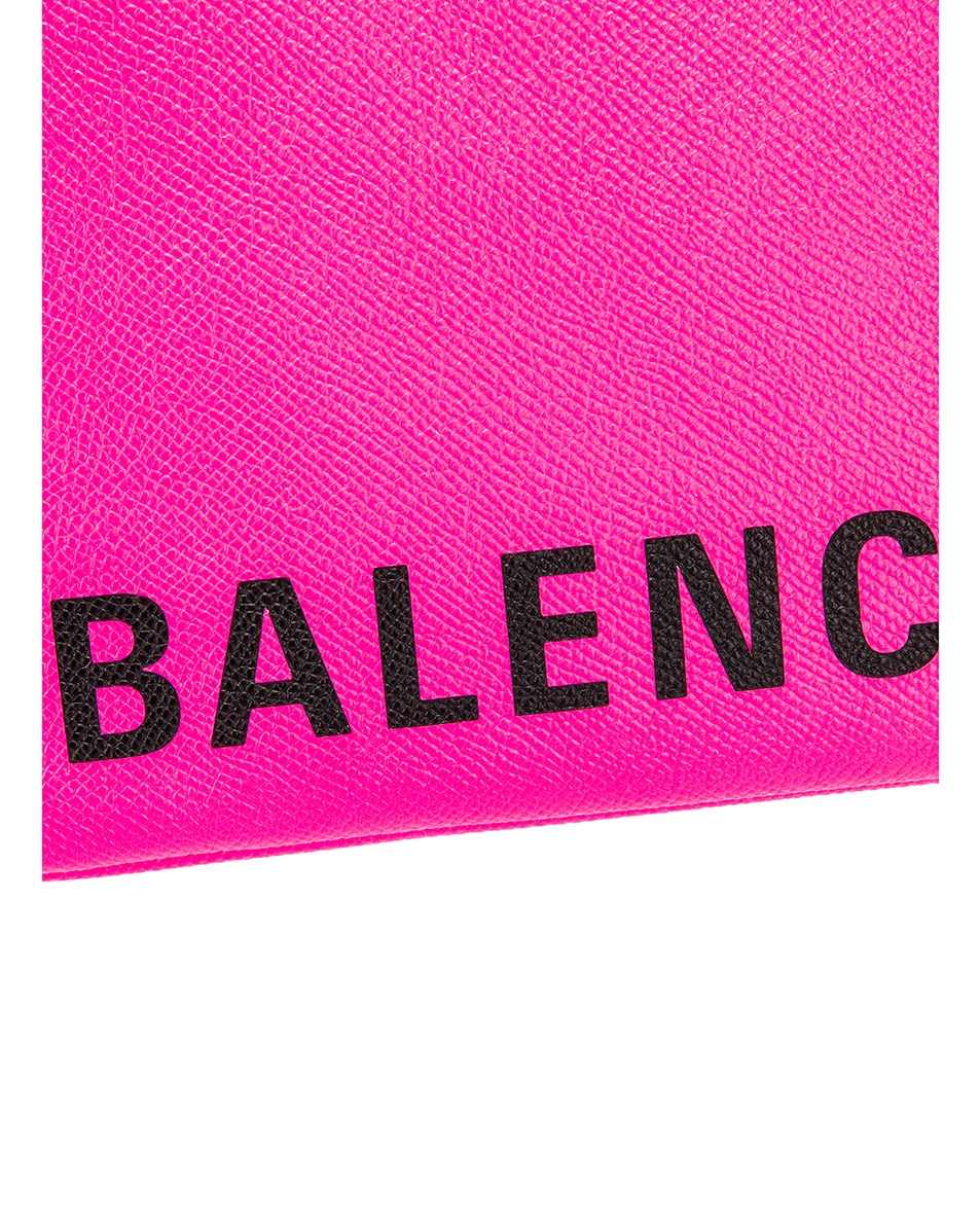 Image 7 of Balenciaga Cash Handle Pouch in Acid Fuchsia & Black