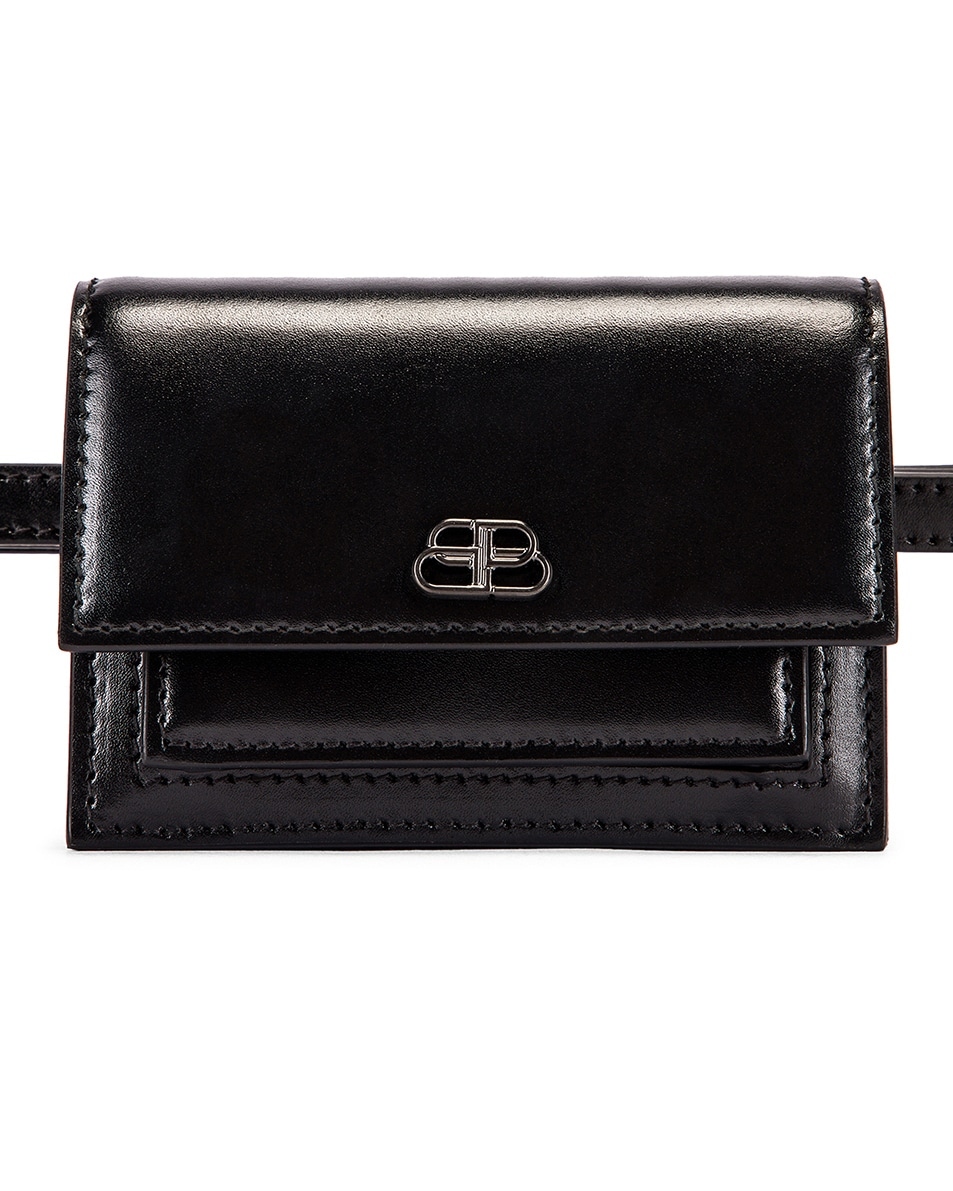 Image 1 of Balenciaga XXS Sharp Belt Bag in Black