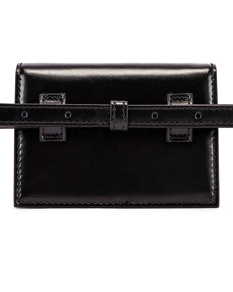 Image 3 of Balenciaga XXS Sharp Belt Bag in Black