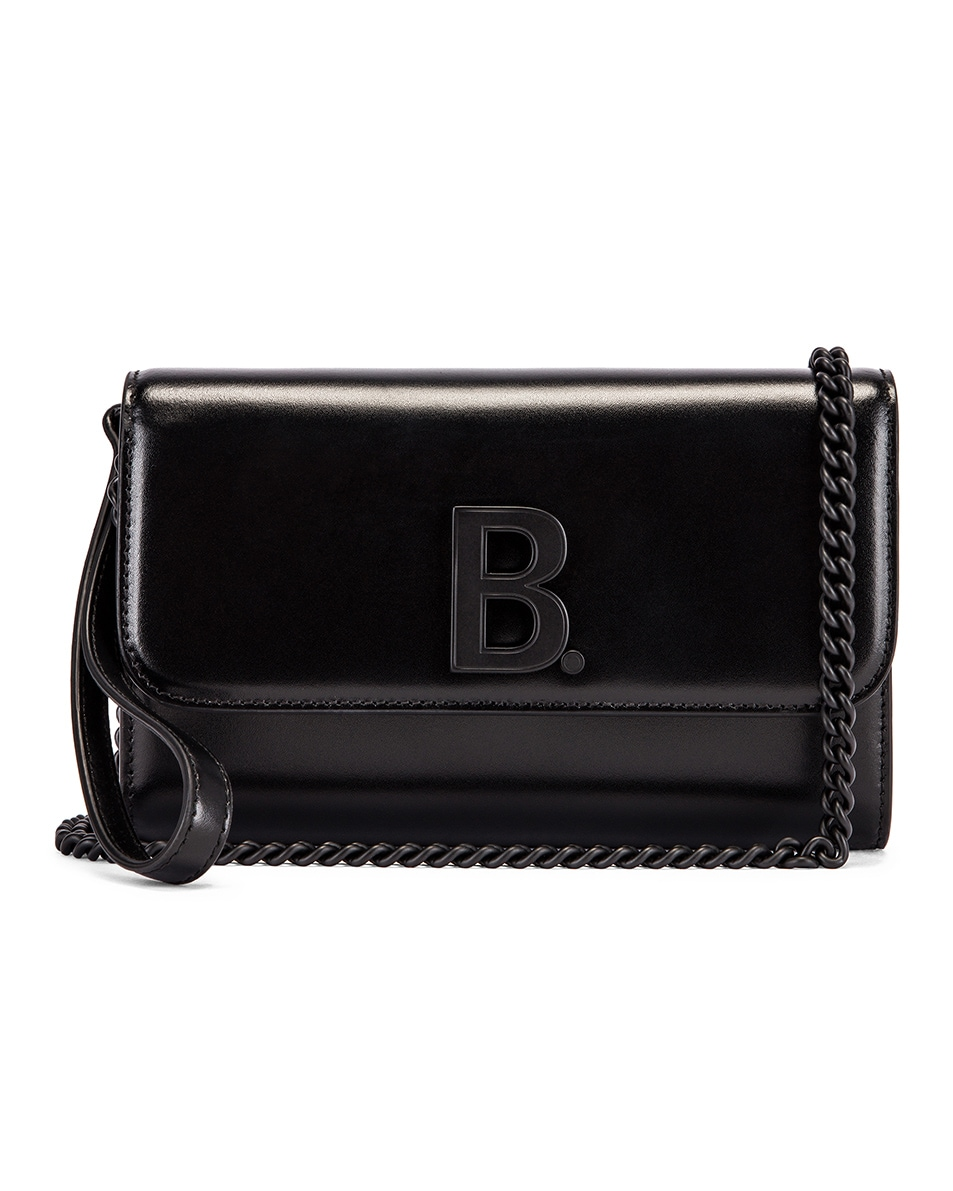 Image 1 of Balenciaga B Continental Chain Bag in Black