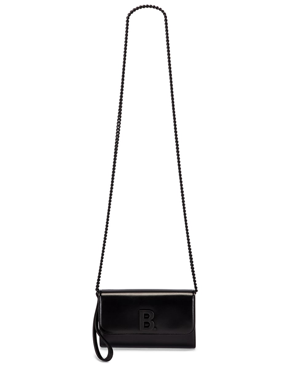 Image 5 of Balenciaga B Continental Chain Bag in Black