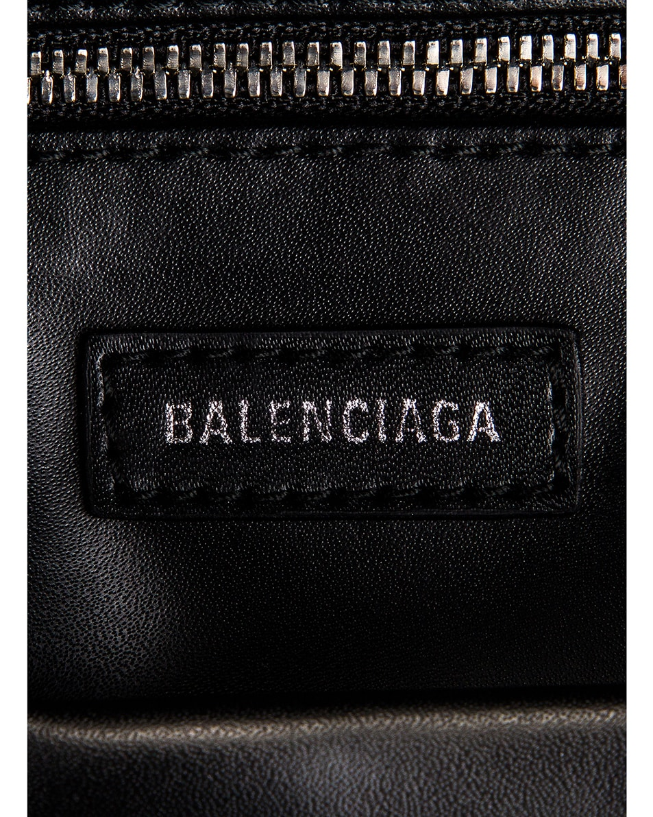 Image 6 of Balenciaga Small Embossed Croc Everyday Backpack in Black