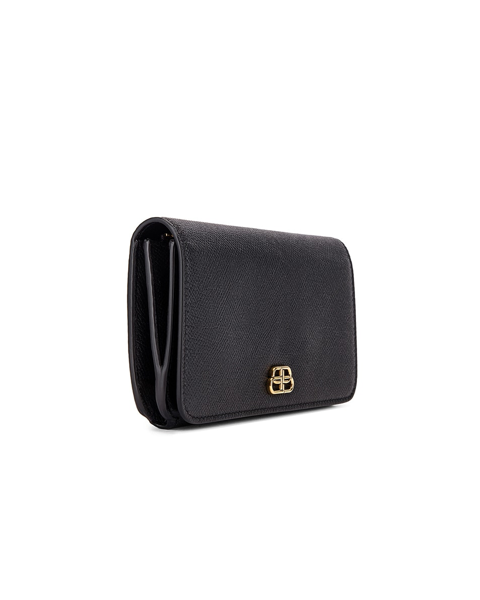Image 3 of Balenciaga BB Thin Money Wallet in Black
