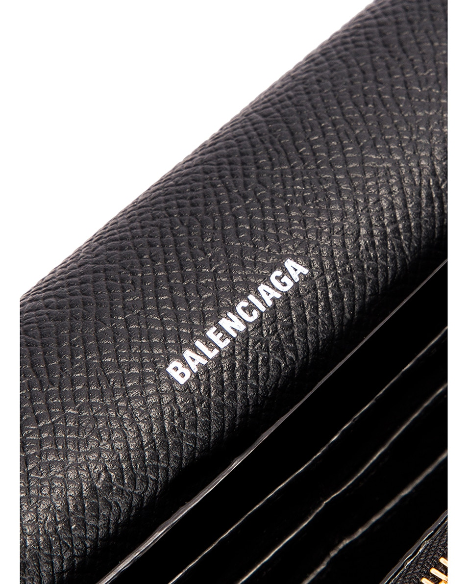 Image 6 of Balenciaga BB Thin Money Wallet in Black