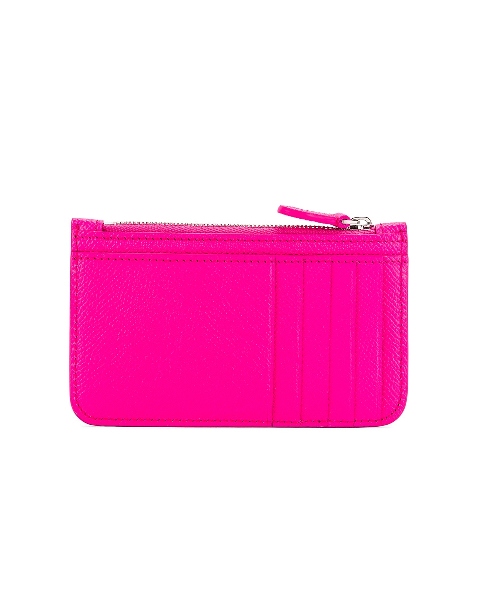 Image 2 of Balenciaga Long Cash & Coin Wallet in Acid Fuchsia & Black