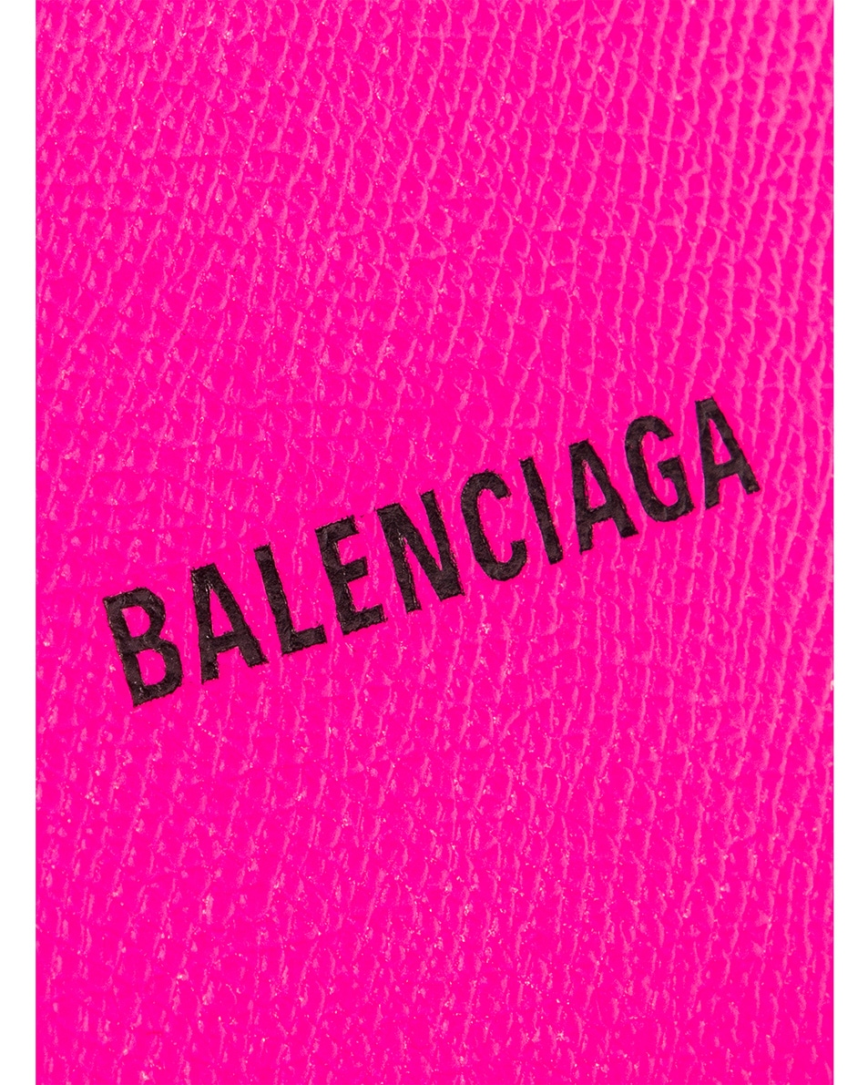 Image 6 of Balenciaga Long Cash & Coin Wallet in Acid Fuchsia & Black