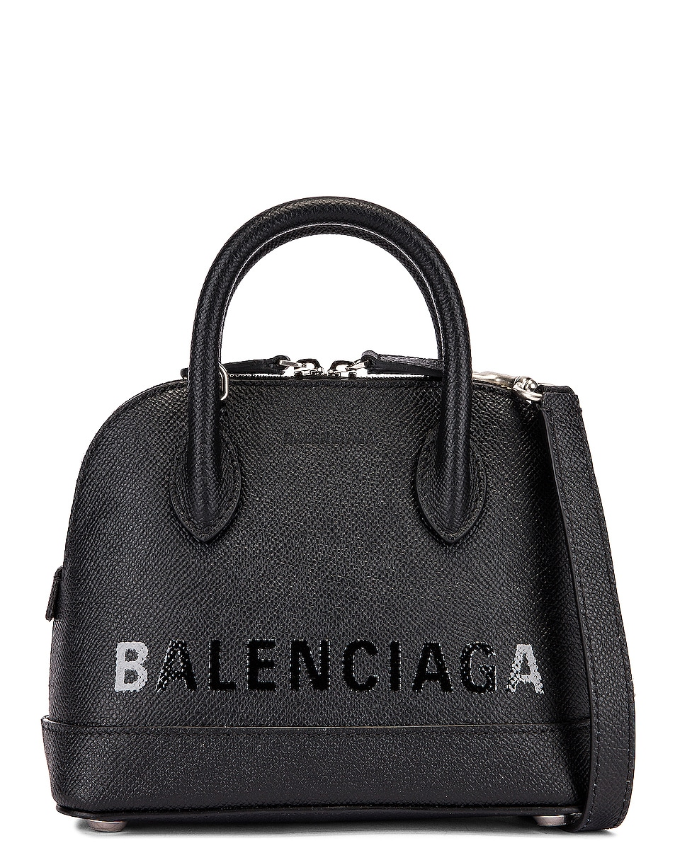 Image 1 of Balenciaga XXS Ville Top Handle Bag in Black & Black